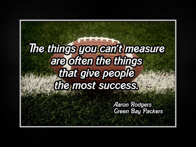 Aaron Rodgers Football Motivation Quote Poster Gift For Men Etsy