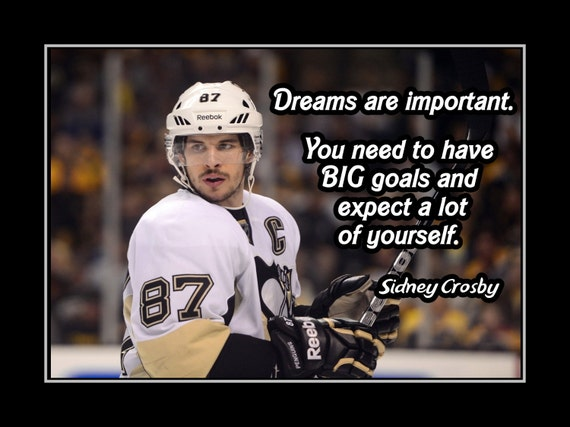 Sidney Crosby Champion De Hockey Motivation Citation Affiche Etsy
