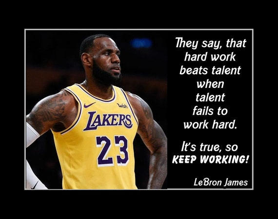 Najarian Nba Youth Bedroom In A Box: Lebron Lakers Inspirational Basketball Quote Poster NBA