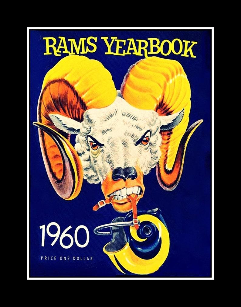 Vintage LA Rams 1960 Poster Retro Football Fan Wall Art Gift  89d08df88
