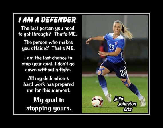 Inspirational Julie Ertz Soccer Quote Wall Art Poster Daughter Best Friend  Birthday Gift for Kids Champion Photo Decor 8x10