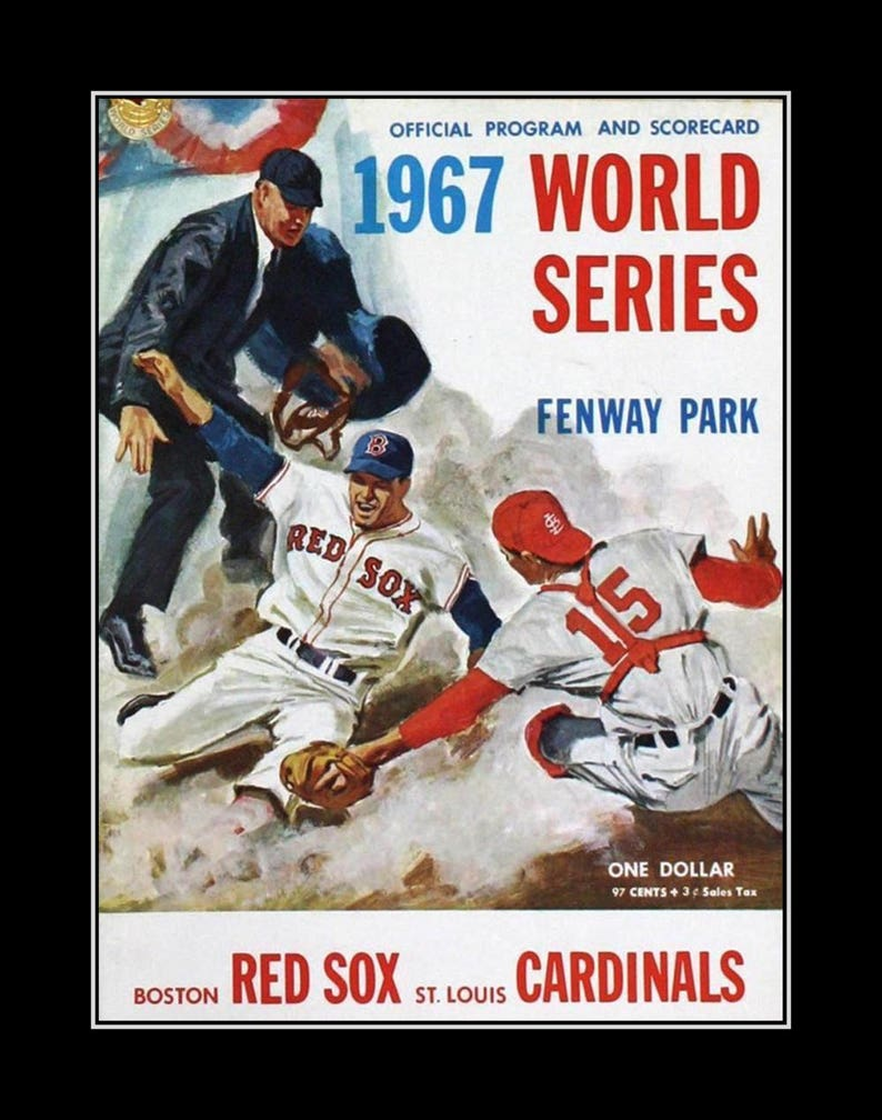 Vintage 1967 Baseball Champion Series Illustration Gift Etsy