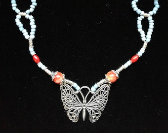 necklace Butterfly garden 1