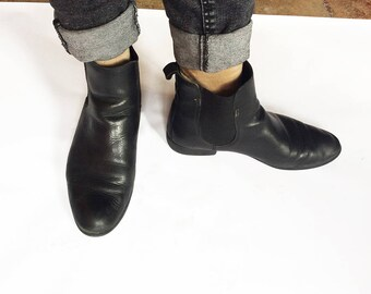 Black leather - size 39 women boots boots