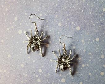 Unusual quirky cute funny kawaii earrings Spider earrings