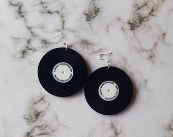 Record earrings. Unusual quirky cute funny kawaii earrings