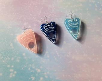 Ouija board earrings quirky handmade goth emo funny cute kawaii earrings