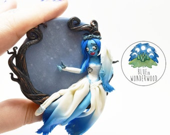 Emily the CORPSE BRIDE - Tim Burton inspired - Polymer Clay OOAK