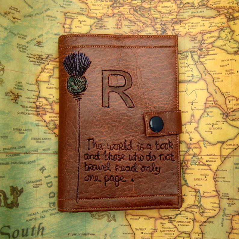 Personalised passport holderscottish giftvegangift image 0