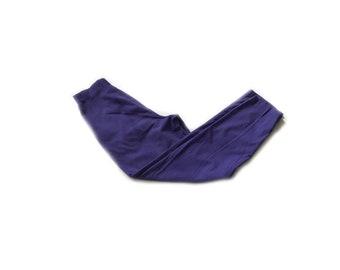 High Waist pants, purple slacks, pleated waist, crop pants, small