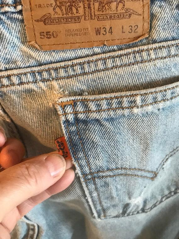 """Levi 550 Jeans - Vintage Levi Jeans- Levi sz 33""""/3"""