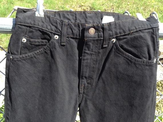 Levi Black Jeans - Vintage Levi 505 Jeans - Black