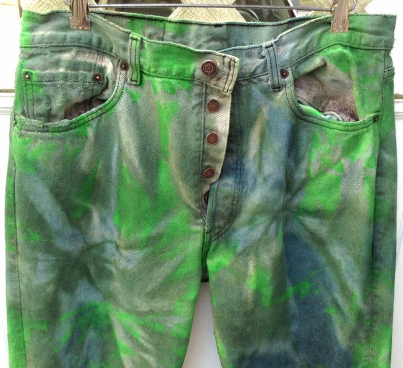 98653f57a8e Levi 501 Jeans Sz34/32 Tie Dyed Levi Jeans-Levi | Etsy