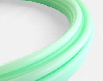 UV Mad Mint 5/8 Polypro Hula Hoop// Customizable// Light Weight//Trick Hoop//Dance Hoop