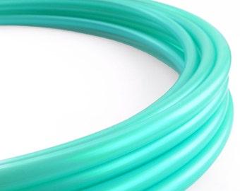 Iridescent Turquoise 5/8 Polypro Hula Hoop// Customizable//Supper Light Weight//Trick Hoop//Dance Hoop