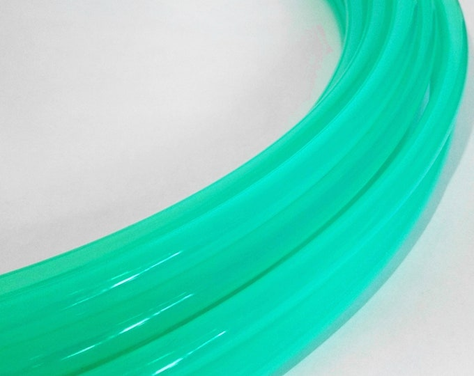 "High Gloss Sea Glass and Clear Glass 5/8"" and 3/4"" Polypro Hula Hoop// Customizable//Super Light Weight//Trick Hoop//Dance Hoop"