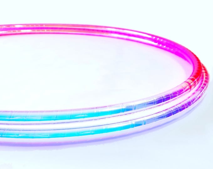 Indigo and Pink Translucent Taped Performance Polypro or HDPE Hula Hoop Hula Hoop or Minis 3/4 or 5/8 Comes With Clear Coat