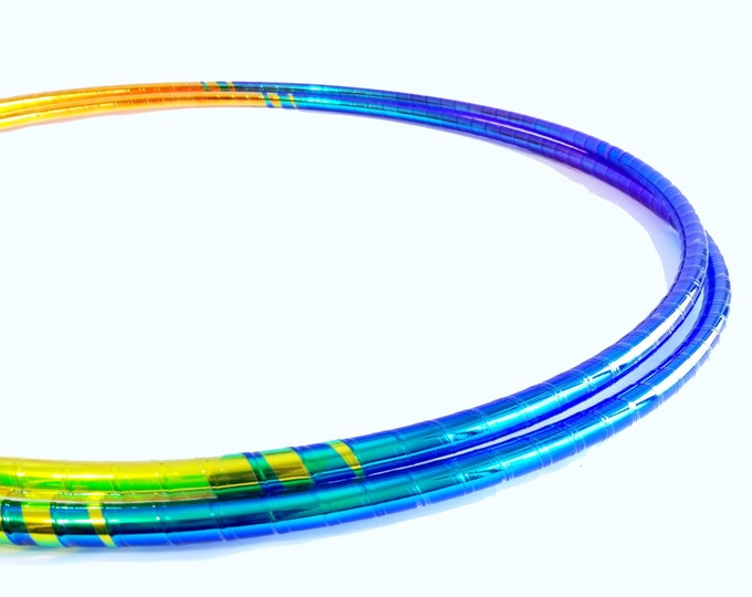 Translucent UV Taped Performance Polypro or HDPE Hula Hoop Hula Hoop or Minis 3/4 or 5/8 Comes With Clear Coat