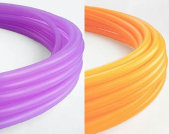 "2 Tone Polypro Hula Hoop  5/8"" or 3/4"" Collapsible for Travel- Push Pin Connection"