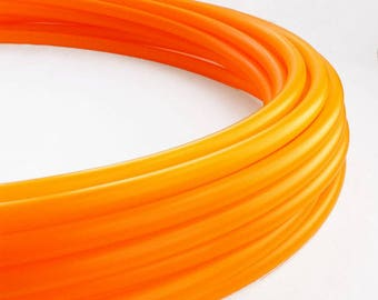 Translucent UV Tangerine 11/16 Polypro Hula Hoop// Customizable// Light Weight//Trick Hoop//Dance Hoop