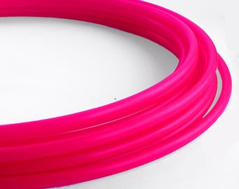 "Polypro Hula Hoop 11/16"" UV Hot Pink Collapsible for Travel- Push Pin Connection-Sizes 22""-38"""