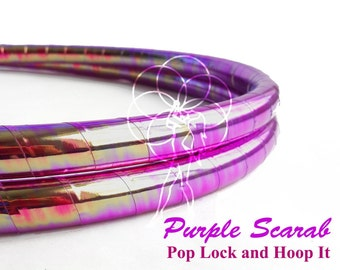 Polypro Hoop or HDPE //Purple Scarab Performance Polypro or HDPE Hula Hoop Hula Hoop or Minis 3/4 or 5/8
