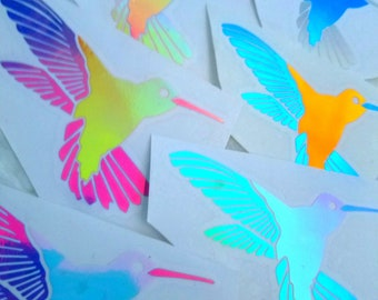 Color Shifting Vinyl Decal Humming Bird // Car Decal // Window Decal // Multiple Surface Decal