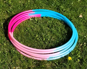 "Cotton Cand Dream Ombre 4 Piece Polypro Hula Hoop 3/4""or 5/8"" Collapsible for Travel- Push Pin Connection"