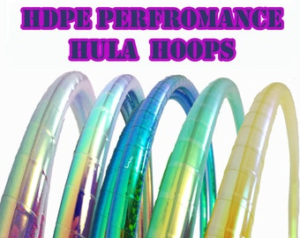 Performance HDPE 5/8 or 3/4  Hula Hoop// Customizable// Light Weight//Trick Hoop//Dance Hoop//Taped Hoop