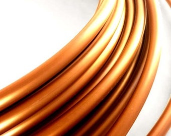 "Polypro Hula Hoop 11/16"" Copper - Collapsible for Travel- Push Pin Connection-Sizes 22""-38"""