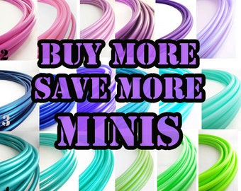 "Mini Polypro  Hoops Buy More Save More // 1-6 mini Hoops Riveted Shut 18""-25"" or Push Pin to Close 20""-25"""