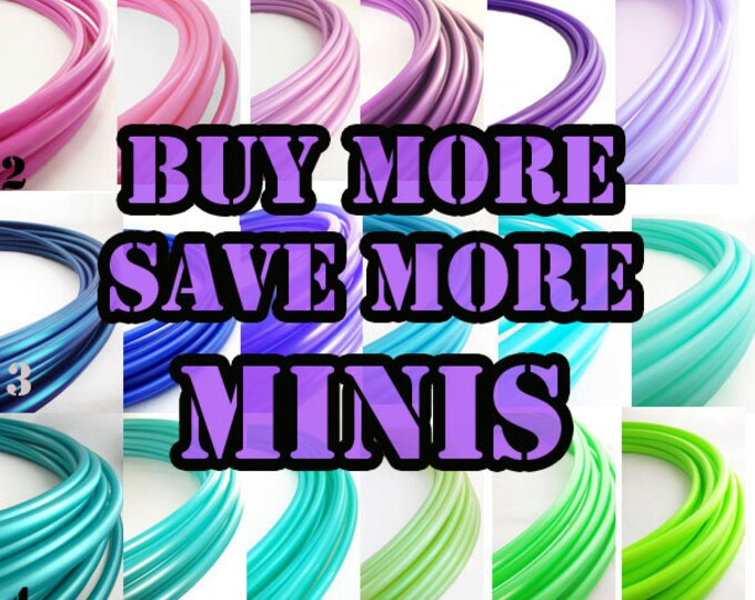 """Mini Polypro  Hoops Buy More Save More // 1-6 mini Hoops Riveted Shut 18""""-24"""" or Push Pin to Close 20""""-25"""""""