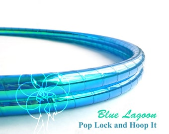 Polypro Hoop or HDPE //Blue Lagoon Performance Polypro or HDPE Hula Hoop Hula Hoop or Minis 3/4 or 5/8