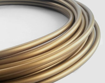 """Hula Hoop Polypro 3/4"""" Metallic Gold //Collapsible for Travel- Push Pin Connection-Sizes 22""""-38"""""""