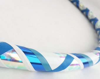 Blue Ice All Sizes Hula Hoop, Beginner//Polypro//Kid//Weighted//Exercise//Dance Hula Hoop // Customizable