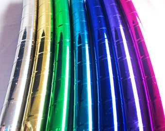 Clear Coat Included Metallic Performance Polypro or HDPE Hula Hoop or Minis 3/4 or 5/8