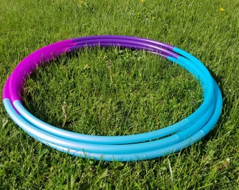 "Unicorn Berry Ombre 4 Piece Polypro Hula Hoop 3/4""or 5/8"" Collapsible for Travel- Push Pin Connection"