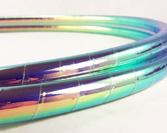 BEST SELLER ! Midnight Rainbow Performance Polypro Hula Hoop or HDPE Hula Hoop or Minis 3/4 or 5/8