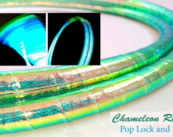 Chameleon High Intensity Color Shifting Reflective Performance Polypro Hula Hoop 3/4 or 5/8 This is not an LED Hula Hoop