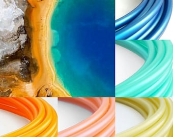 "Mineral Explosion Ombre 5 Tone Polypro Hula Hoop 3/4""or 5/8"" Collapsible for Travel- Push Pin Connection"