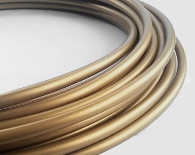 Metallic Gold 11/16 Polypro Hula Hoop// Customizable//Super Light Weight//Trick Hoop//Dance Hoop