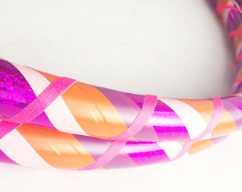 Raspberry Orange All Sizes Hula Hoop Beginner//Polypro//Kid//Weighted//Exercise//Dance Hula Hoop // Customizable