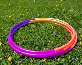 "Miami Sky Line 4 Piece Polypro Hula Hoop 3/4""or 5/8"" Collapsible for Travel- Push Pin Connection"