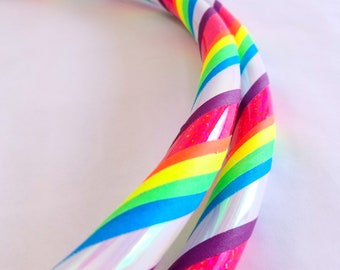 Unicorn Rainbow All Sizes Hula Hoop Beginner//Polypro//Kid//Weighted//Exercise//Dance Hula Hoop // Customizable