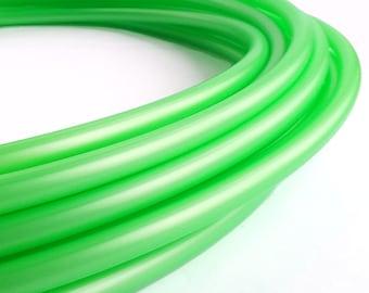 UV Reactive Metallic Bright Green 5/8 Polypro Hula Hoop// Customizable// Light Weight//Trick Hoop//Dance Hoop