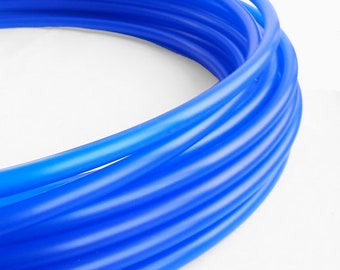 "Polypro Hula Hoop 11/16"" Translucent UV Blue // Collapsible for Travel- Push Pin Connection-Sizes 22""-38"""