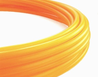UV Tangerine 3/4 Polypro Hula Hoop// Customizable// Light Weight//Trick Hoop//Dance Hoop