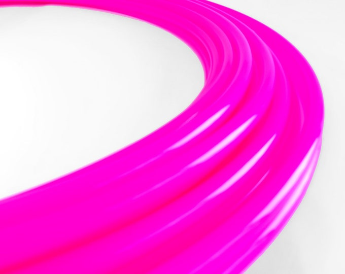 Radioactive UV Lip Gloss Pink High Gloss Polypro 5/8 // Collapsible Push Pin Connection // Light Weight//Trick Hoop//Dance Hoop