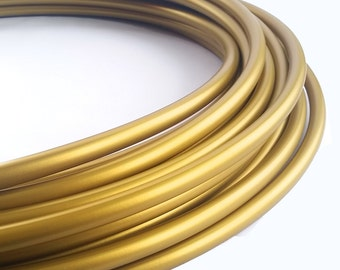 Metallic Gold 5/8 Polypro Hula Hoop// Customizable//Super Light Weight//Trick Hoop//Dance Hoop