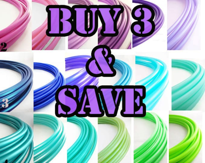 Buy 3 Polypro Hoops or HDPE Hoops and Save// Customizable// Light Weight//Trick Hoop//Dance Hoop
